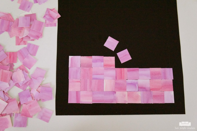 abstract watercolor mosaic art
