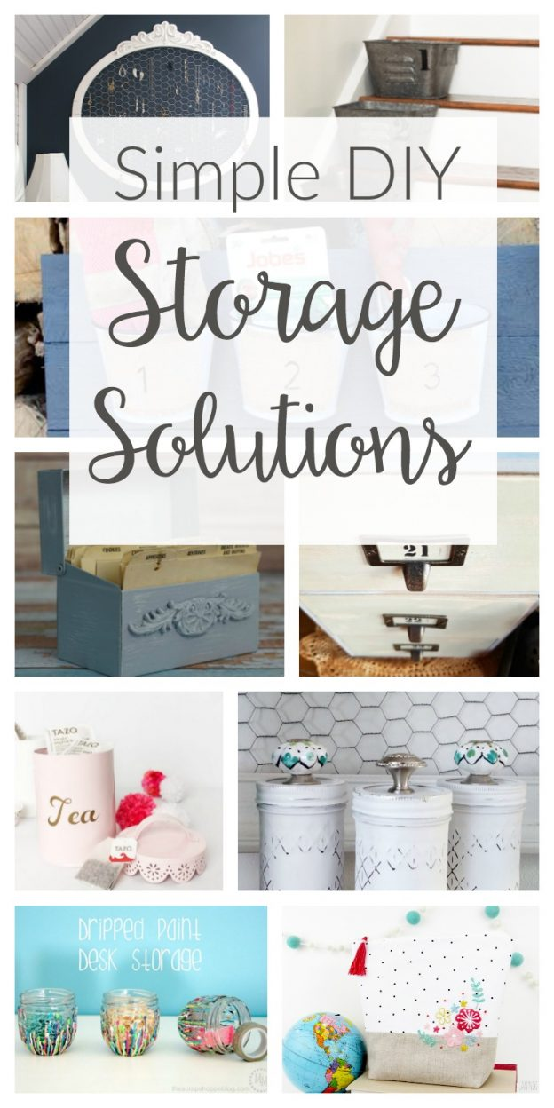 Need help with organizing? Check out these simple and inexpensive DIY storage solutions you can make with easy household items and thrift store finds!