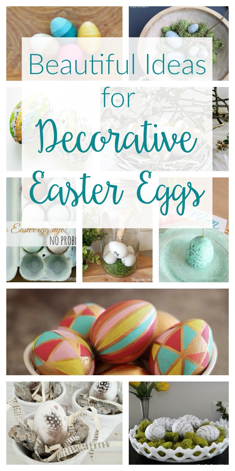 Check out these 10 decorative Easter egg ideas! So many beautiful and easy DIY Easter egg ideas. These are perfect for Spring crafts and home decor.