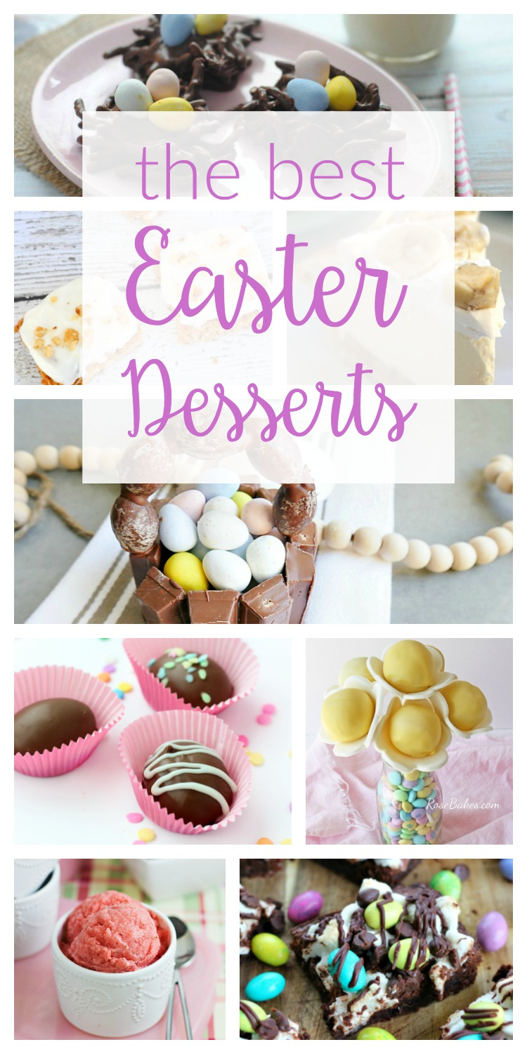 The Best Easter Desserts - Check out these easy, cute and creative recipe ideas to make for your Easter parties this year!