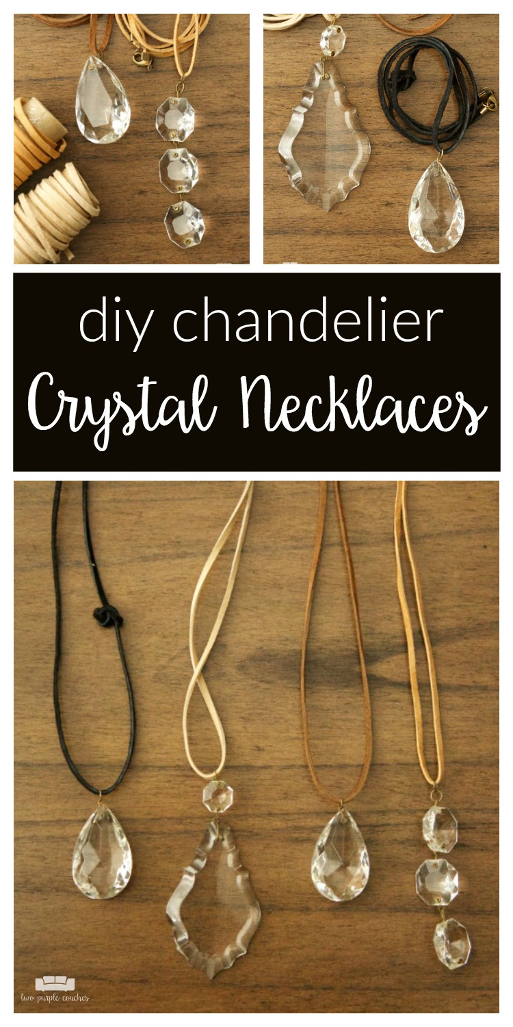 How to create beautiful chandelier crystal necklaces. This is such a fun way to repurpose and upcycle found vintage crystals into gorgeous pendant jewelry!