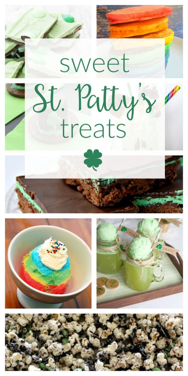 So many cute and easy ideas and recipes for sweet St. Patrick's Day treats and desserts. Yummy chocolate treat ideas, milkshakes, brownies and more!