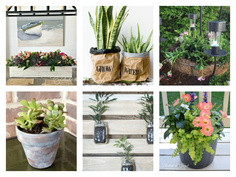 So many DIY planter ideas and container gardening ideas - how to make garden beds, flower planters and pots for your patio, deck or porch!