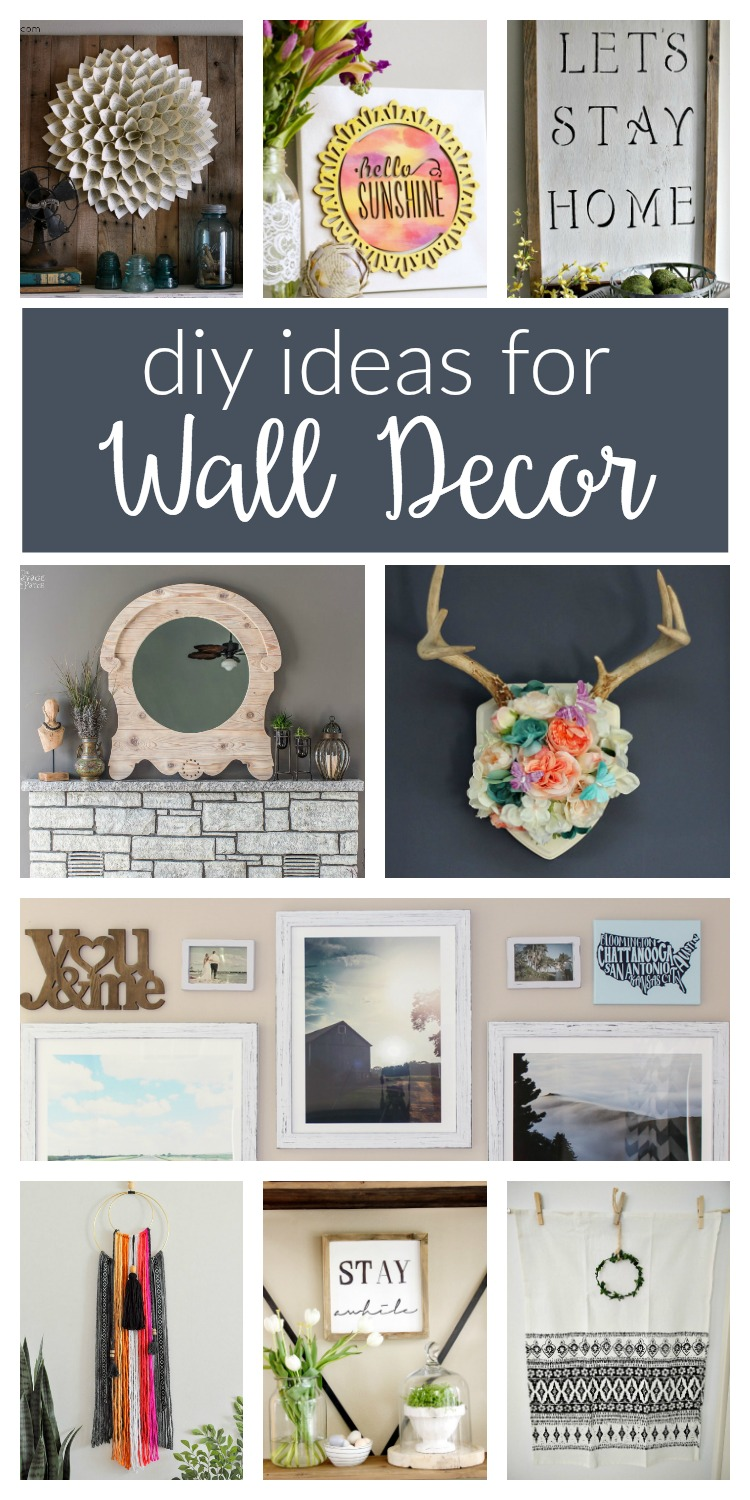 DIY wall decor ideas / Whether your style is rustic, farmhouse or boho, these easy ideas are perfect for your living, bedroom, kitchen and your whole house!
