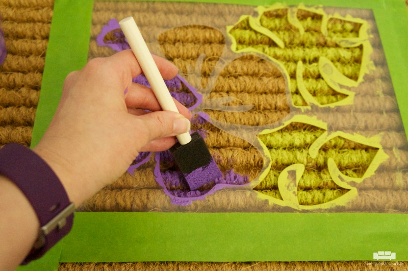 How to stencil a doormat