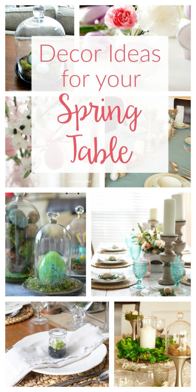 So many beautiful DIY Spring table decor ideas - from simple and rustic to gorgeous farmhouse style, get inspired to create your Easter dinner table!