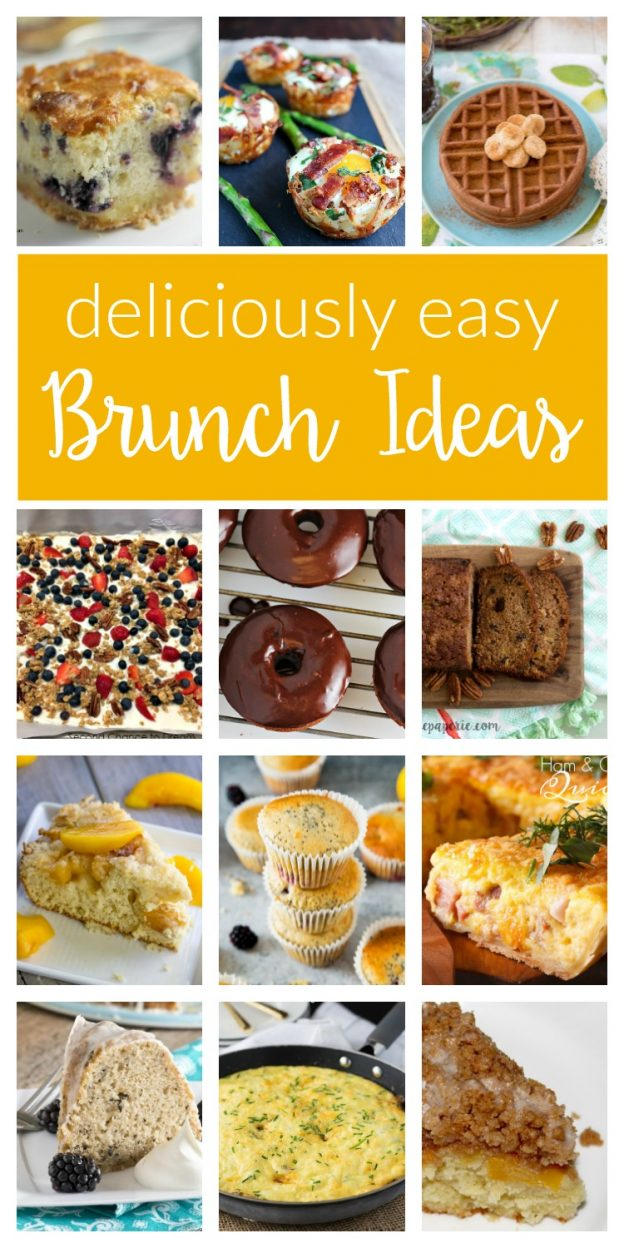 Delicious and easy brunch ideas - a collection of simple recipes perfect for your next ladies brunch, Mother's Day brunch, bridal shower and more!