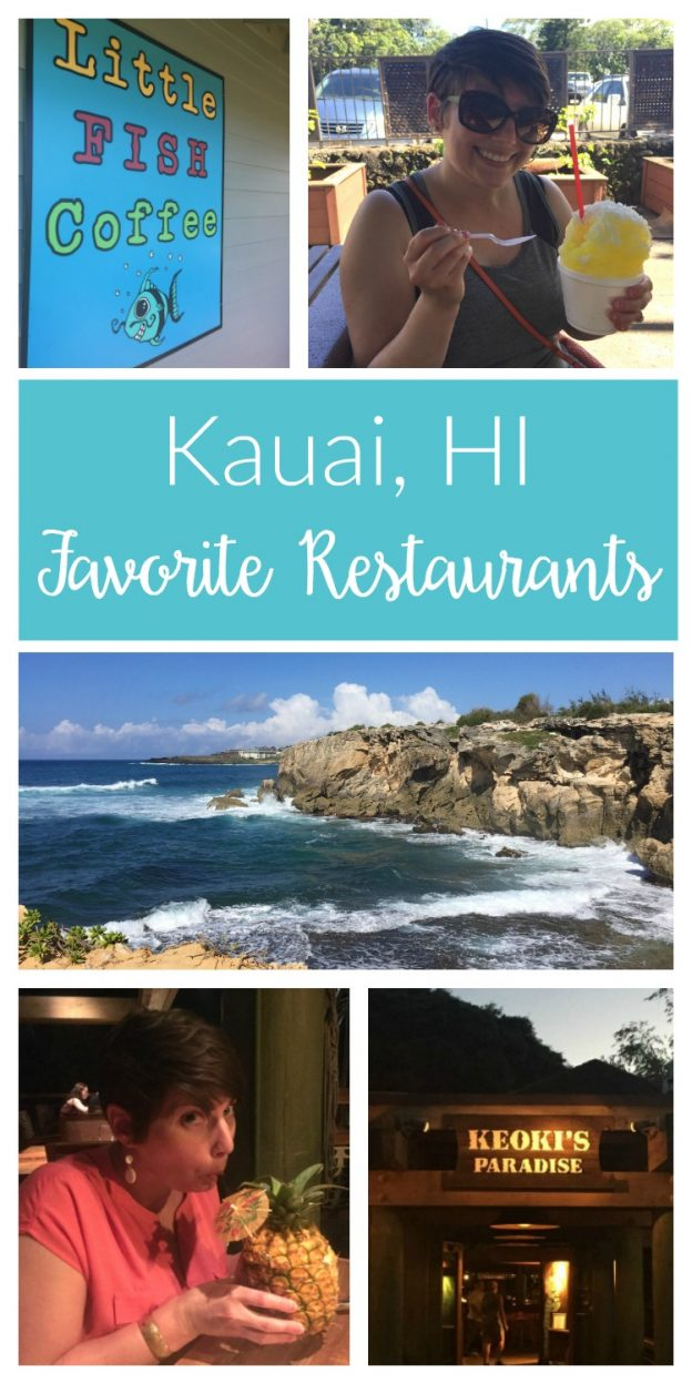 Our favorite Kauai restaurants - great places to grab a delicious bite, sample fresh local-caught fish and enjoy a cocktail or pina colada in paradise!