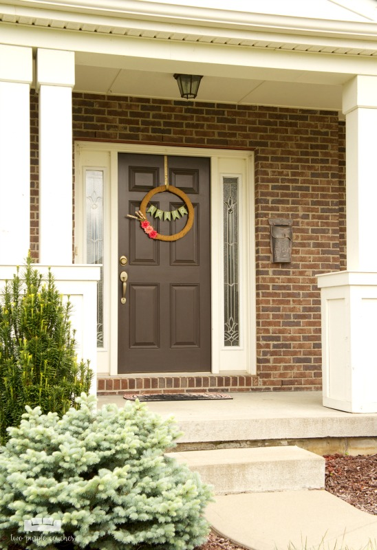 We're swapping out our builder-grade door for a new, customized front door. Why? It better suits our personal style and will add loads of curb appeal!