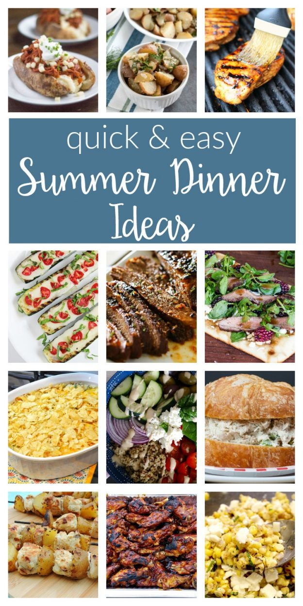 Easy Summer Dinner Ideas / Quick, healthy and delicious recipes and ideas for summer meals that your kids and family will love - chicken, bbq and more!