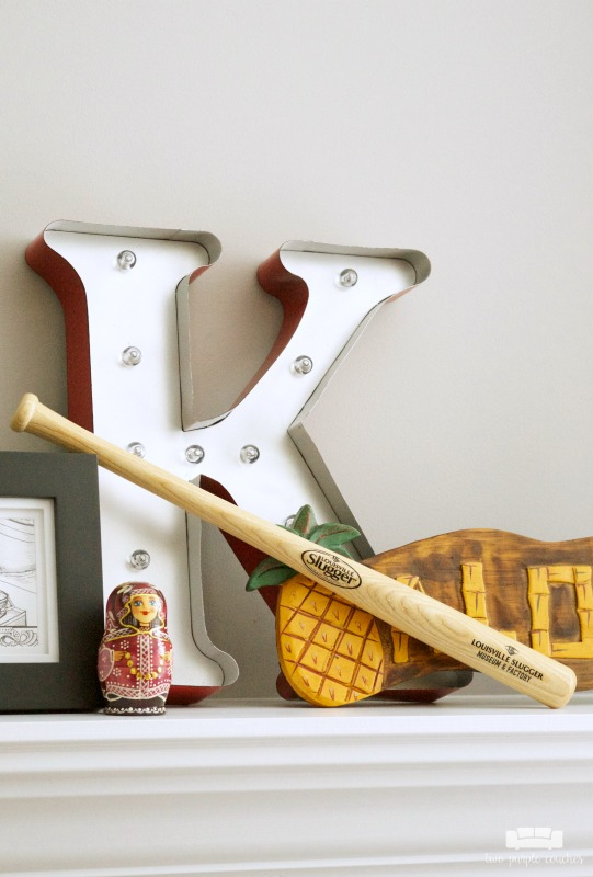 Use your summer vacation as inspiration for decorating your summer mantel! Gather souvenirs and travel mementos to create unique mantel decor.