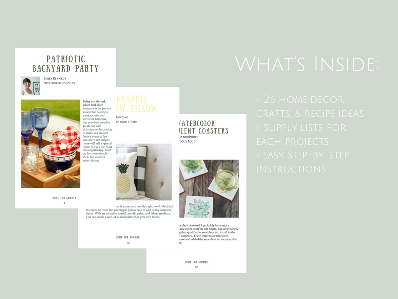 Home for Summer ebook - What's Inside