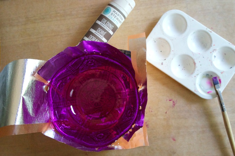 How to make a Moroccan-style trinket dish - applying silver gilding sheets