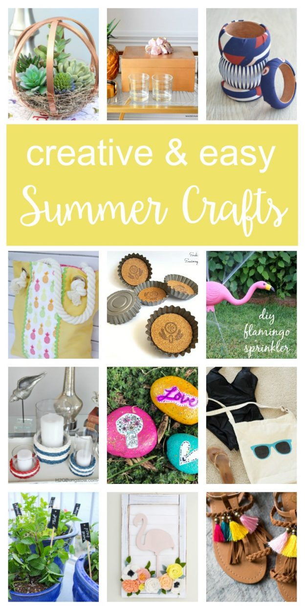 Summer Crafts Ideas - Check out these 12 creative & fun crafts ideas you'll want to DIY this summer! Cute ideas for kids, adults, for home and outdoors.