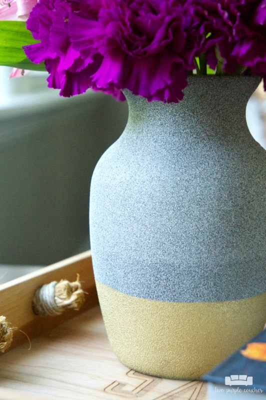 DIY Stone Gold-Dipped Vase. See how easy it is to transform a glass vase into beautiful, modern gold-dipped home decor with HomeRight. Sponsored.