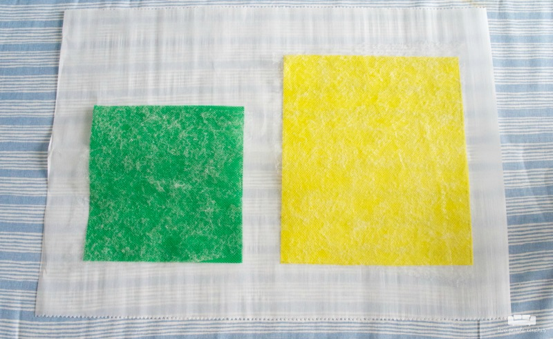 how to make a pineapple garden flag - step 1
