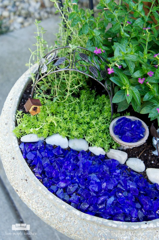 Learn how easy it is to make a fairy garden in a pot. Simple outdoor plants and accessories bring your DIY gnome or fairy garden container ideas to life!
