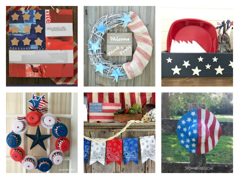 patriotic home decor ideas merry monday 159 two