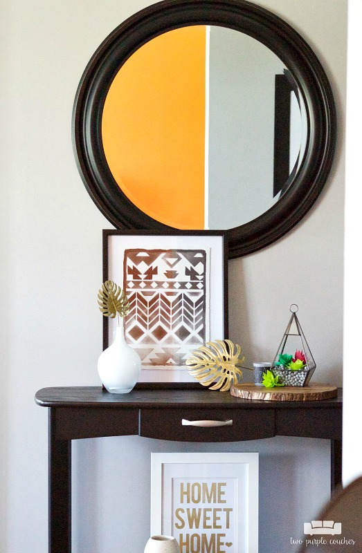 Room by Room Showcase: Summer Entryway Decor + Tour. Lots of ideas and projects for decorating your foyer or entry for summer.