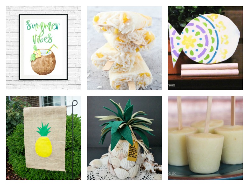 12 terrific tropical ideas, crafts, DIY, decor, recipes and projects to turn your home into a bright and colorful oasis this summer!