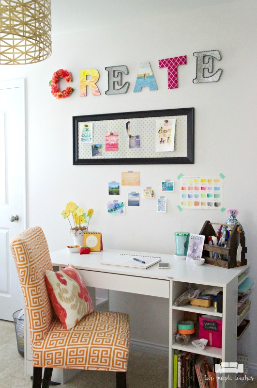 Room by Room Showcase: Craft Room Tour. Turning a spare bedroom into a space for crafting and creating. Find arts and crafts storage ideas, creative diys.