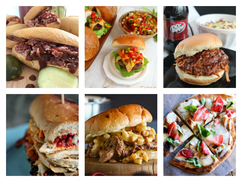 Easy Summer Sandwiches. Ideas and recipes for simple summer dinners, from pulled pork to burgers, tacos and wraps. Recipes the whole family will love!