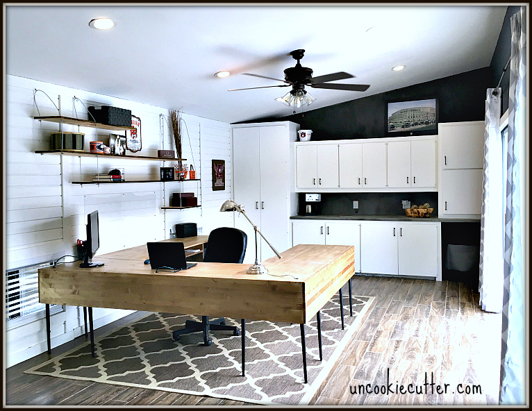 Modern home office makeover and tour