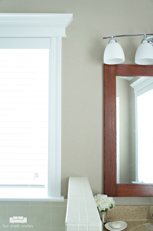 Love this idea to frame windows and bathroom mirrors - looks like custom work but you can DIY it!