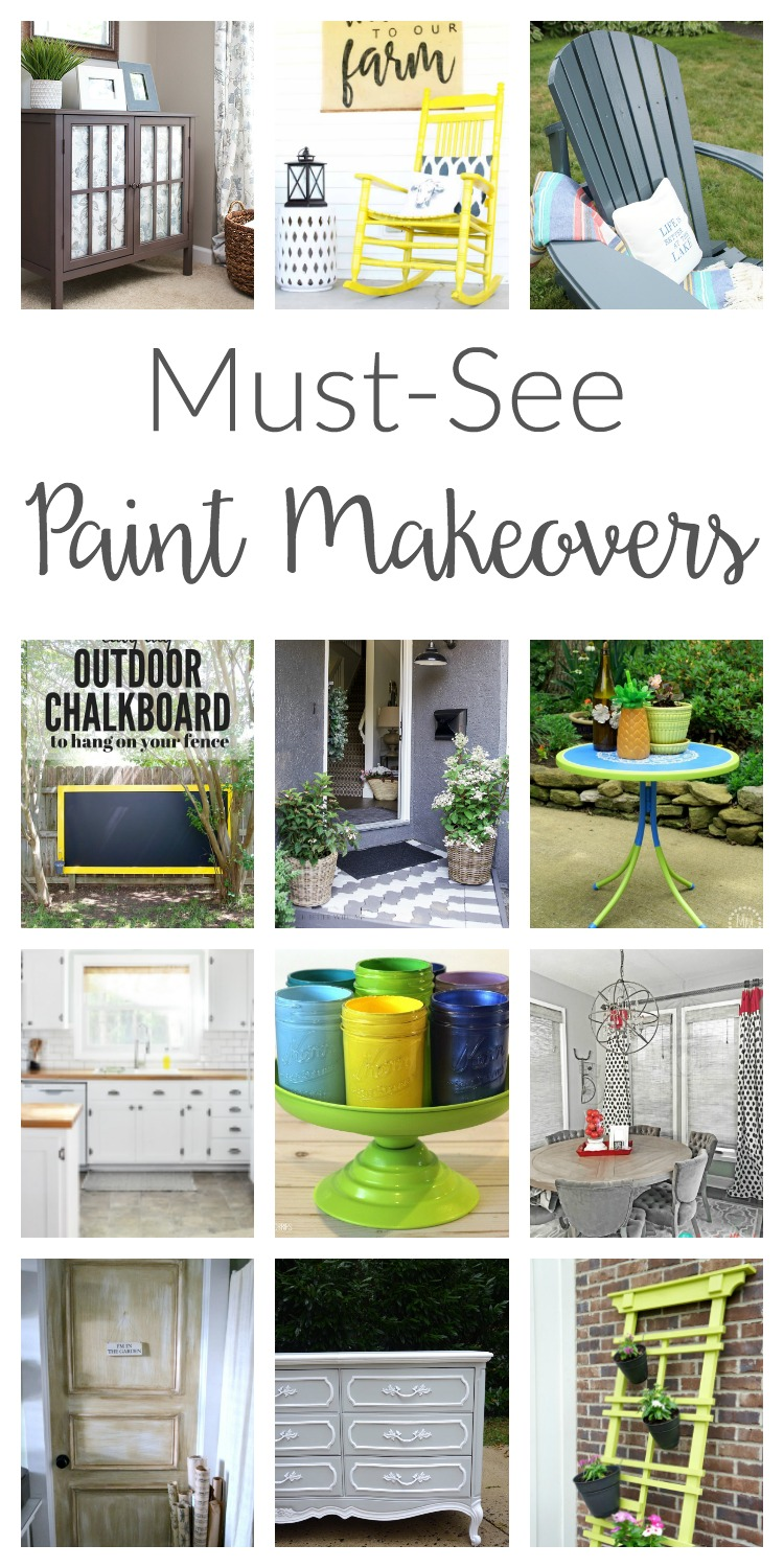 Wow! From thrift store dressers to kitchen cabinets, you've got to see these paint makeovers! So many budget friendly project ideas and inspiration!