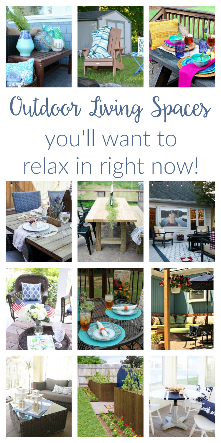 12 beautiful & cozy outdoor living spaces you'll want to relax in right now! DIY Ideas for patio and deck decor - from bohemian to rustic to modern.