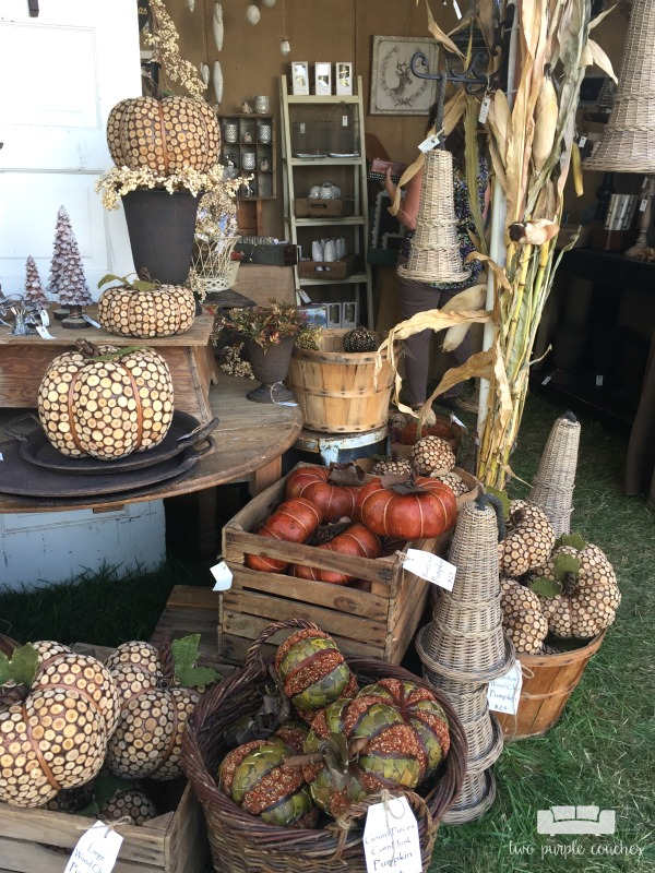 Country Living Fair 2016 - Love this home decor vendor with tons of pumpkins and holiday decor!