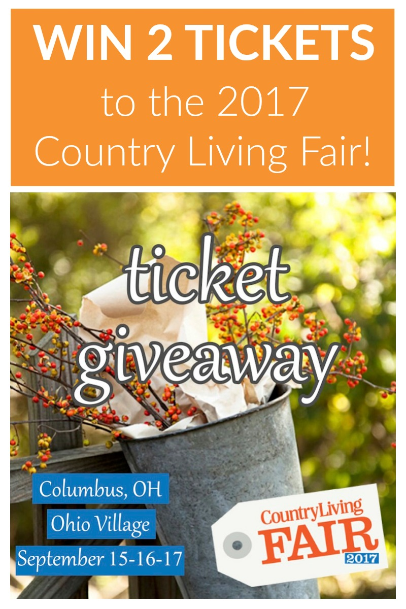 Country Living Fair 2017 is coming to Columbus, Ohio September 15-17! Win 2 weekend pass tickets and experience the pages of Country Living come to life!