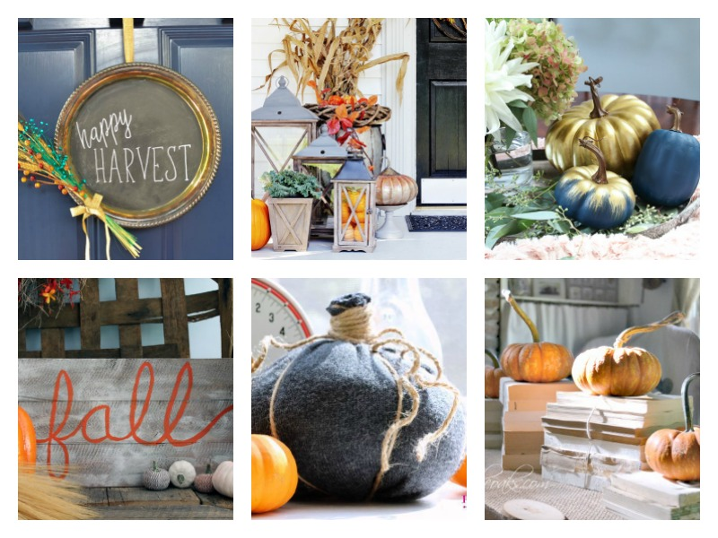 Fall Decorating Ideas - DIYs, crafts, rustic and vintage home decor