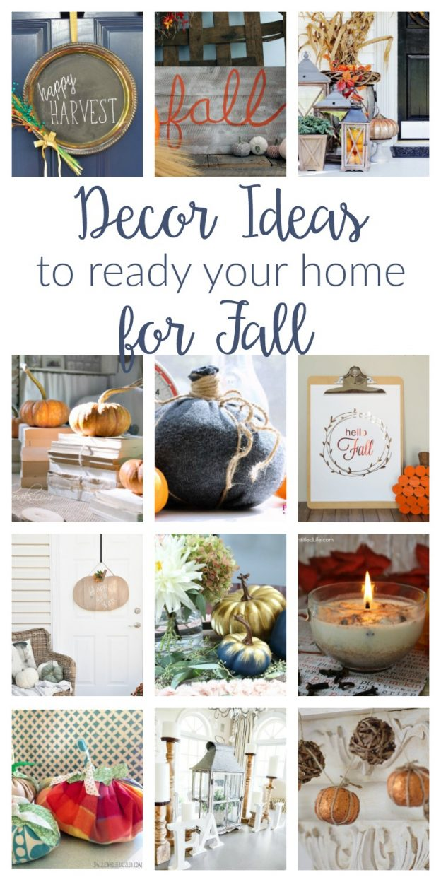 Fall decorating ideas to help you get ready for the season. From porches to mantels, these DIY decor and crafts ideas are easy ways to transition to autumn.