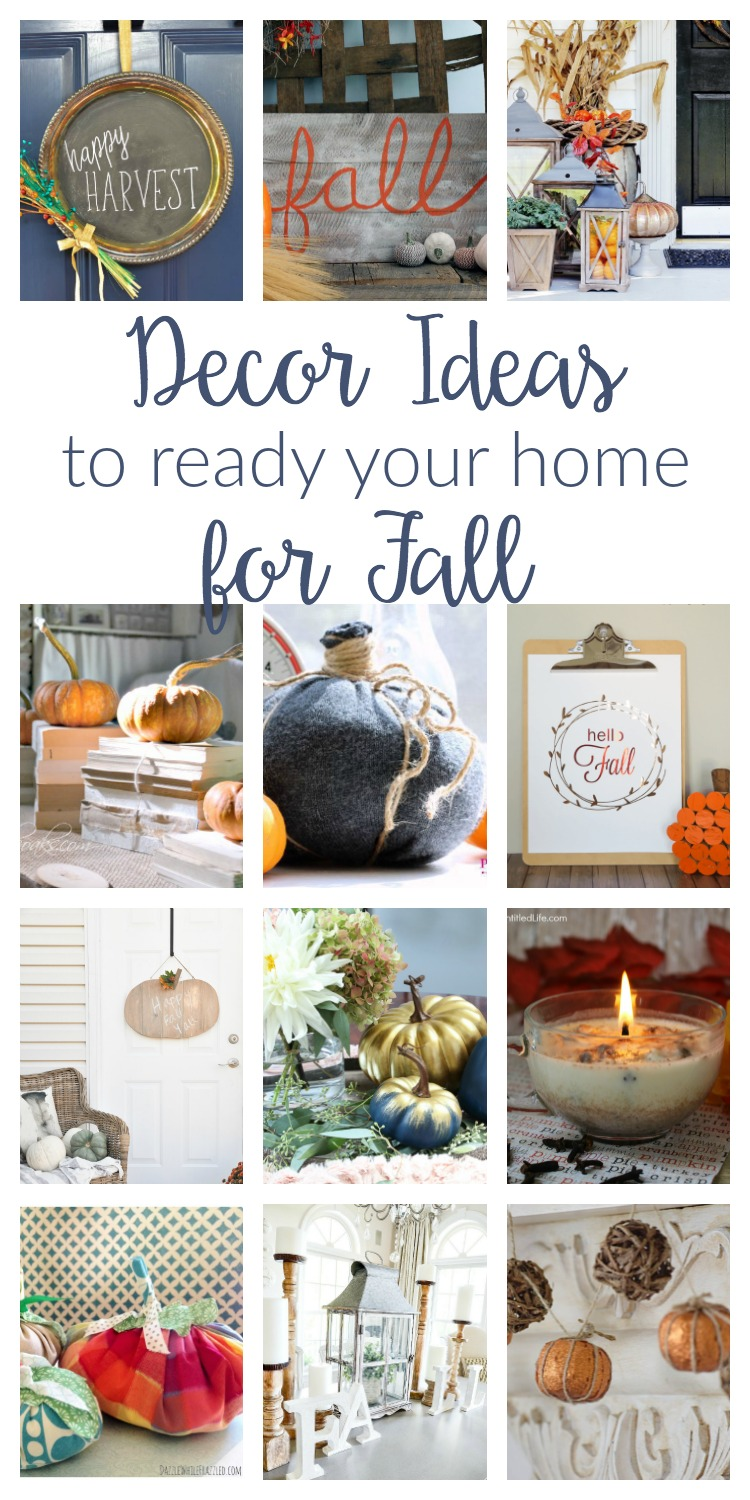 Fall Decorating Ideas - Merry Monday #169 - two purple couches
