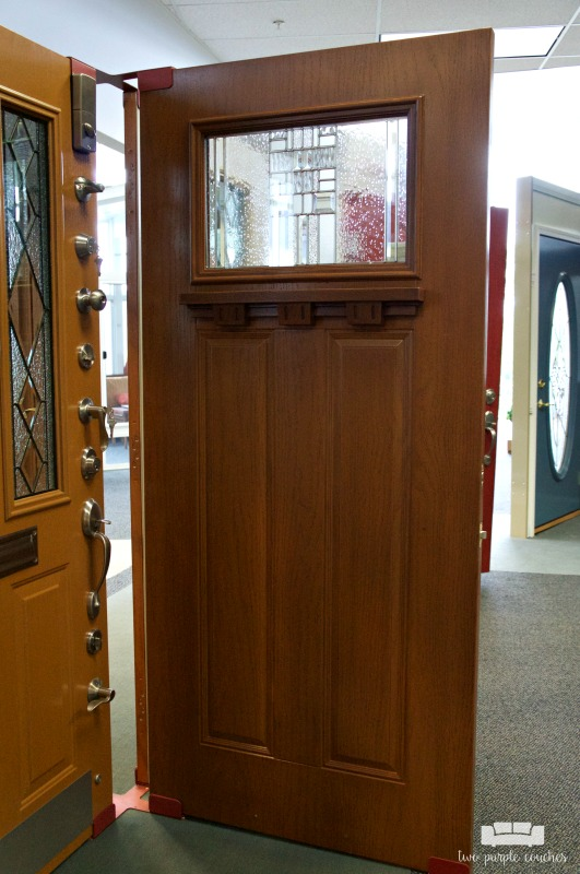 Considering a new front door? Head to a local showroom to check out options in-person.