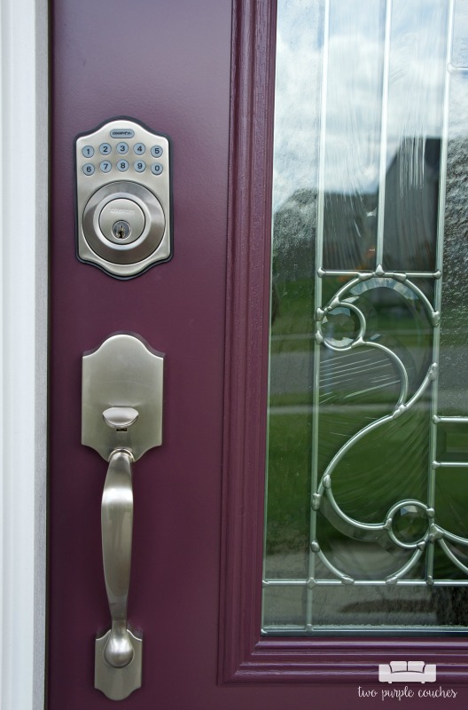 Thinking about a new front door? Consider upgrading to an electronic deadbolt feature.