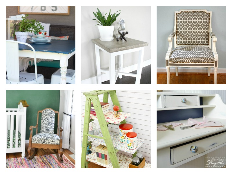 Furniture Makeover Ideas for chairs, desks, tables, vintage items and more!