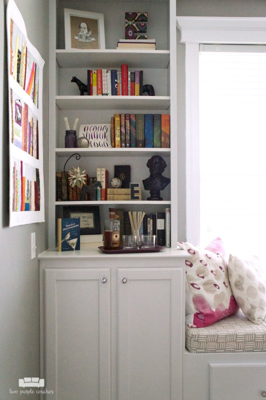 Home Office Design - built-in shelves and cabinets for storage