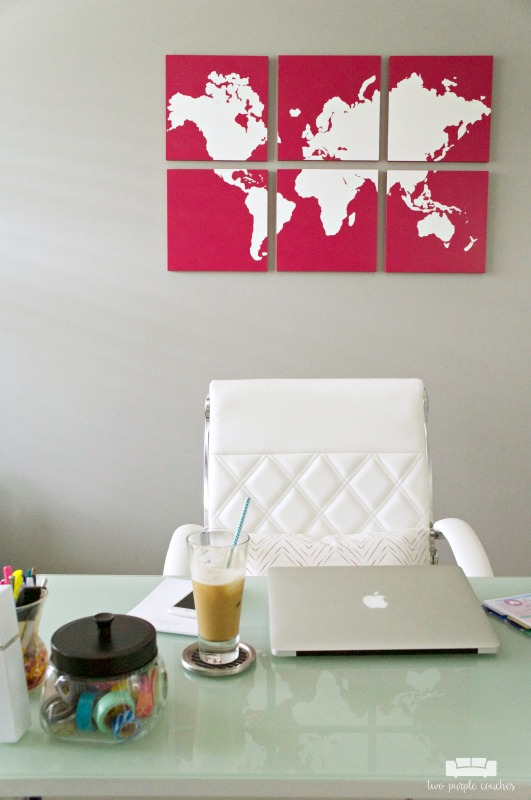 Home Office Design - simple desk storage and solutions
