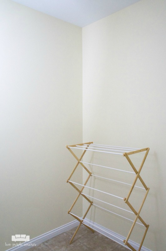 Laundry Room - drying rack
