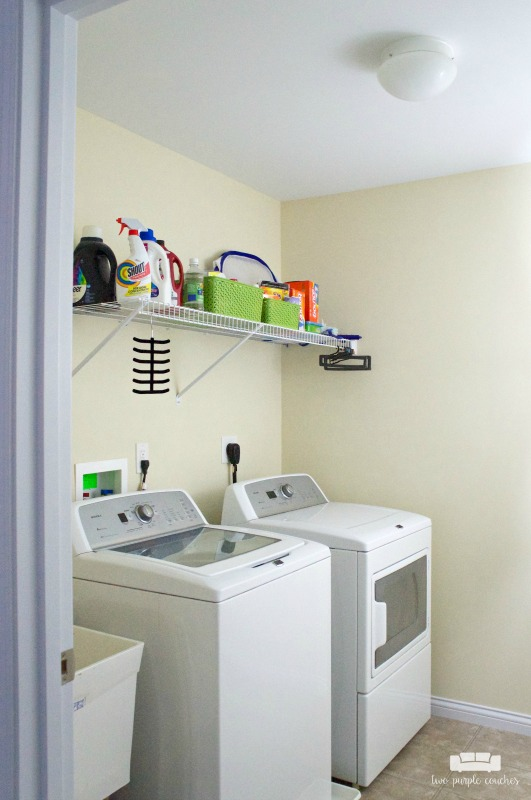 Laundry Room Plans / Room by Room Series. Storage ideas and plans for upgrading a builder-grade laundry room into a more usable and stylish space.