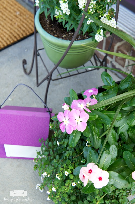 Summer porch decor - potted plants for curb appeal