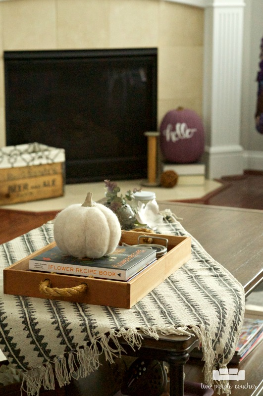 Coffee Table Decor for Fall - Simple ideas to create a boho vibe