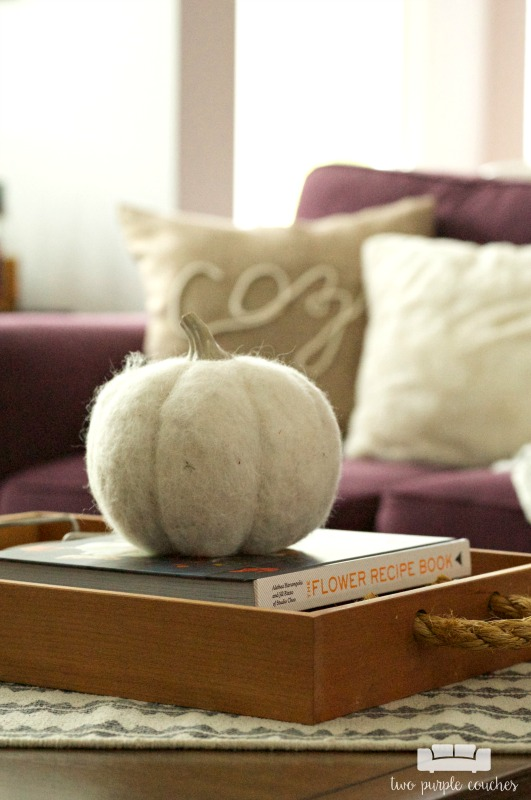 Coffee Table Decor - Add a pumpkin for Fall!