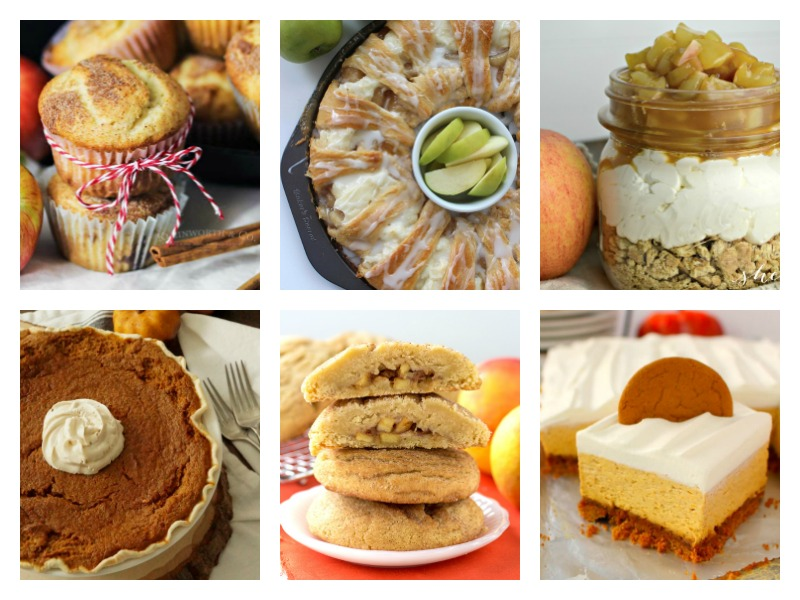 Deliciously easy Fall desserts ideas - no bake recipes, cheesecakes cookies and more.