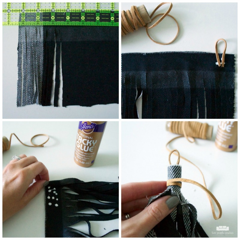 How to make a fabric tassel bag charm - easy DIY tutorial