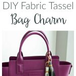 This Fabric Tassel Bag Charm is a simple DIY that adds extra style to your favorite handbag. Learn how to make these easy tassels from fabric scraps.