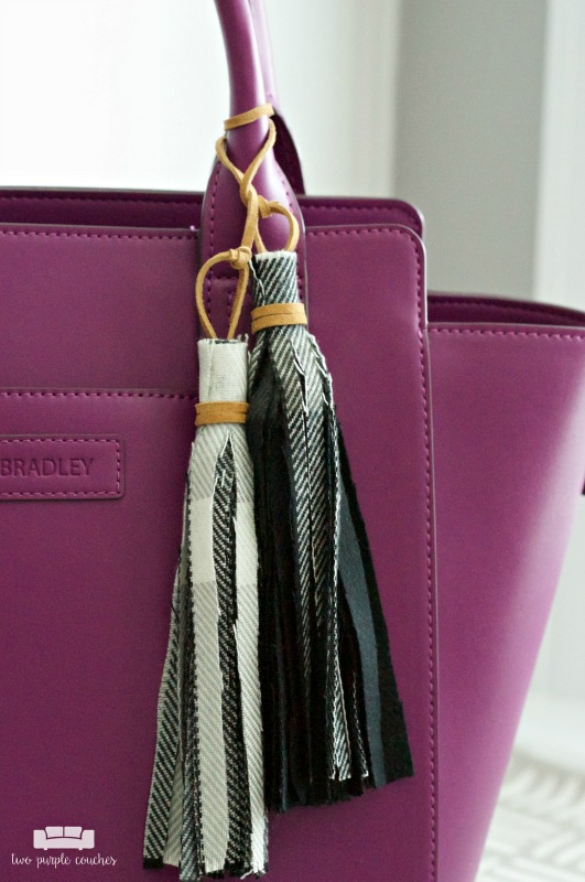 Making your own fabric tassels is easy! Learn how to make them, and how to turn them into a trendy handbag accessory.