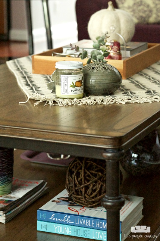 Beautiful coffee table styling ideas for Fall.